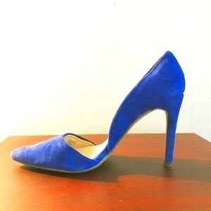 Royal Blue Suede Banana Republic Heels